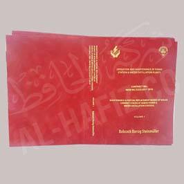 Double-fold Certificate Holder red