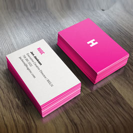 Full Color Printed Business Cards Pink