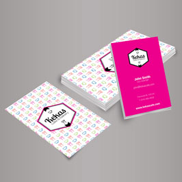 Full Color Printed Business Cards Vertical
