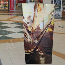 Transparent Acrylic Canvas with Sticker Printing Sail