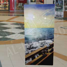 Transparent Acrylic Canvas with Sticker Printing Sea