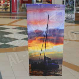 Transparent Acrylic Canvas with Sticker Printing Ship