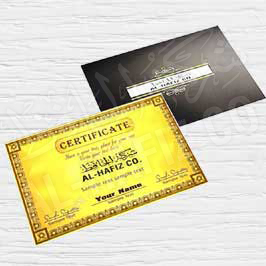 Certificate Template 1 - Golden with Envelop
