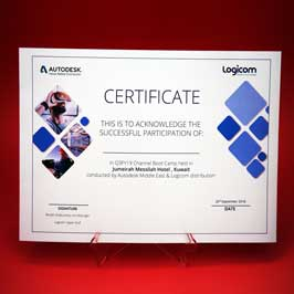 Full Color Printed Certificate On 220 Gsm Paper