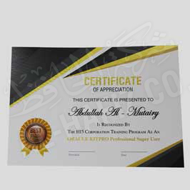 Certificate Yellow Black