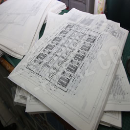 Printing of Black & White Drawings