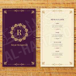 Hotel Menu Card - Hot Foil Stamping