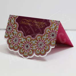 Invitation Card Maroon Floral