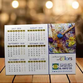Full Color Digital Printed Table Tent Calendar with Metallic Spot Ink
