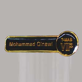Resin Coated Name Badge
