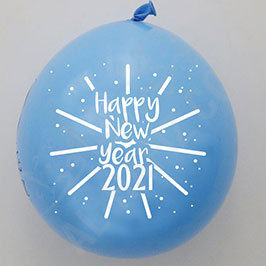 Customized Balloon Blue – Happy New Year