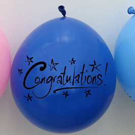 Customized Balloon Blue – Congratulations