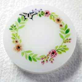 Acrylic Paper Weight - Floral Garland
