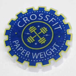 Acrylic Paper Weight - Cross Fit