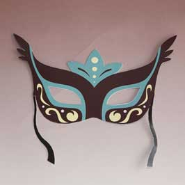 Printed & Die-Cut Paper Mask - Princess