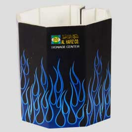 Pen Holder Round - Blue Flames