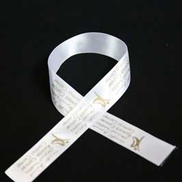 Personalized Branded Ribbon - White