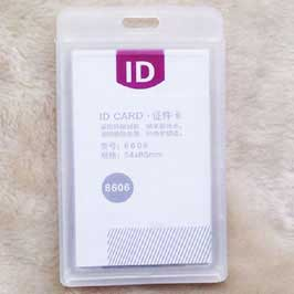 ID Card with Clear Pouch