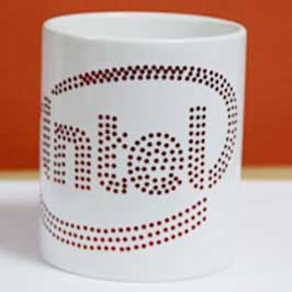 Spangle Mug - Intel Logo (Red)