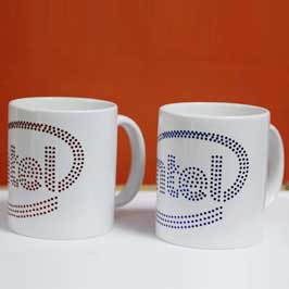Spangle Mugs - Intel Logo (Blue/Red)