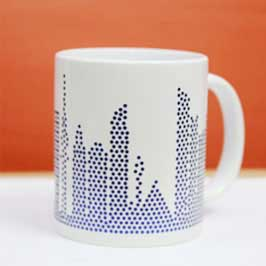 Spangle Mugs - Blue(Kuwait Skyline)