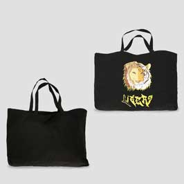 Canvas Tote Bag (Black)-Big