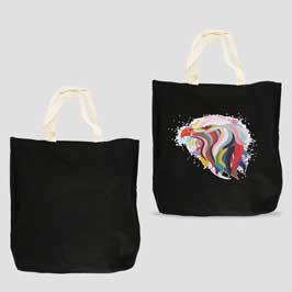 Canvas Tote Bag (Black) - Small