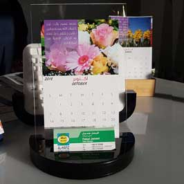 Table Calendar with Acrylic Stand