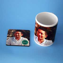 Mug & Tea Coaster - Personal Picture