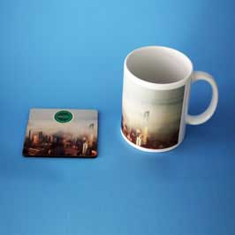 Mug & Tea Coaster - Fog