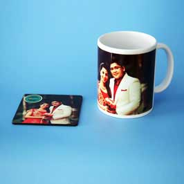 Mug & Tea Coaster - Couple