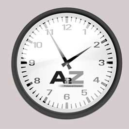 Wall Clock Printing - Black & White