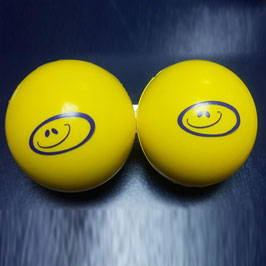 Customized Yellow Assorted Color Silk Screen Printed Stress Balls