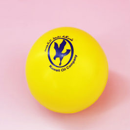 Customized Yellow Color Silk Screen Printed Stress Balls
