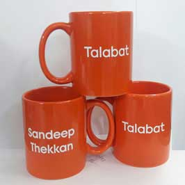 Customized Corporate Cups - Orange