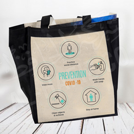 Covid-19 Awareness Message Fabric Bag