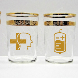 Covid-19 Awareness Water Glass set