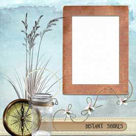 Glass Picture Frame - Wooden Finish