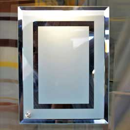 Frosted Glass Picture Frame