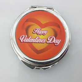 Mirror Printing - Pocket Mirror Round (Orange)
