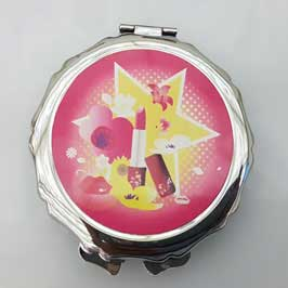 Mirror Printing - Pocket Mirror Round (Pink)