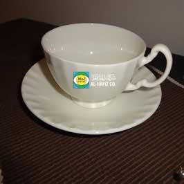 Coffee Cup & Saucer Set - Round