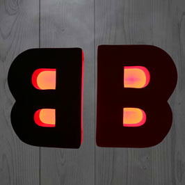 3D Stand with LED Light letter B