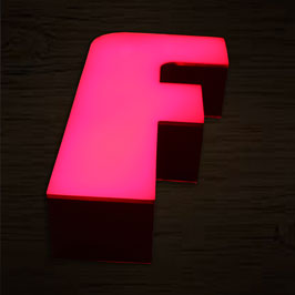 3D Stand with LED Light letter F