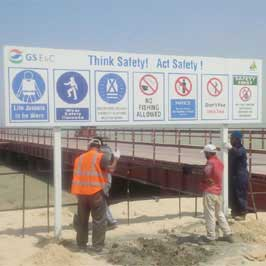 Safety Signage - Deep Water Construction