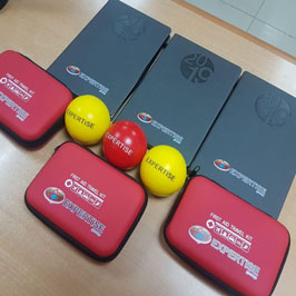 UV Printed Stress Balls, Notebooks and Bandage Kits