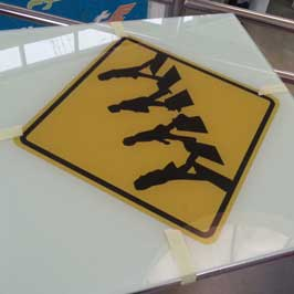 Direct Flatbed Printed Zebra Crossing Sign