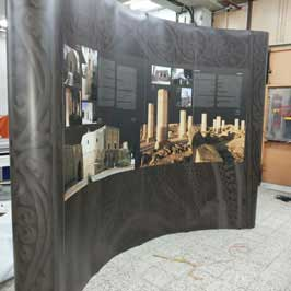 3x5 Curved Display Pop Up Stand