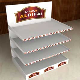 Floor Display Stand  Corrugated  (3 Shelves)