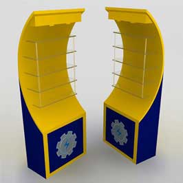 Promotional Customized Display Stand (Curved)